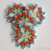 Desenli Keçeler Ütüyle Yapışabilen Çiçek Desenli Keçe Aplike