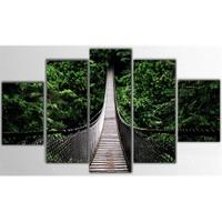 Tictac Ormandaki Köprü - 5 Parçalı Kanvas Tablo - Büyük Boy