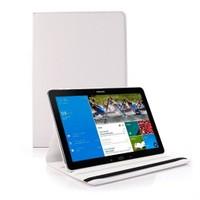 Microsonic 360 Rotating Stand Deri Samsung Galaxy Note Pro 12.2'' SM-P900 Kılıf Beyaz