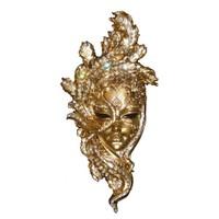 Gold Dekor Tavuzkuşu Maske Altın Renk