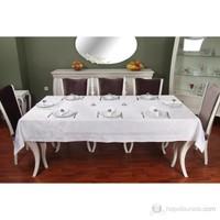 Acidullee Blanc Masa Örtüsü Takımı 160X220 Cm