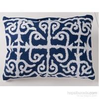 I Love Home Lacivert Beyaz Yastık