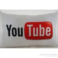 Zey Tasarım Youtube Desenli Dekoratif Yastık