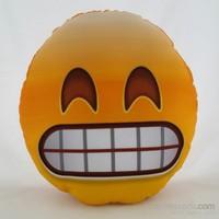 Zey Tasarım Emoji Yüz Desenli Dekoratif Yastık