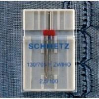 Schmetz Kenar Bastırma İçin Çift İğne 2,5 mm İğne Aralığı Tekli Paket