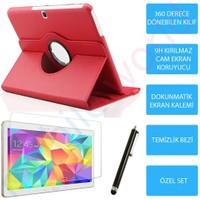 "Mobile World Samsung Galaxy T800 10.5"" Kırmızı Kılıflı 3 Parça Aksesuar Seti"