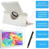 "Mobile World Samsung Galaxy T800 10.5"" Beyaz Kılıflı 3 Parça Aksesuar Seti"