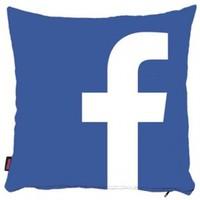 Bengü Accessories Facebook Logo Desenli Dekoratif Yastık 40X40 Cm
