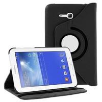 Romeca Samsung Galaxy Tab 3 Lite T110 7'' 360° Dönebilen Stand Siyah Tablet Kılıfı