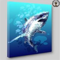Artred Gallery 60X60 Köpek Balığı Işıklı Tablo