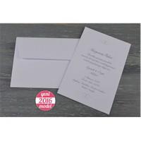 Zarfıyla Takım Kabartma Motifli Sade Davetiye 100 Adet Zarflı