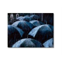 Tictac Şemsiyeler Kanvas Tablo - 50X75 Cm