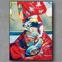 Tablom Kırmızı Kimono Kanvas Tablo