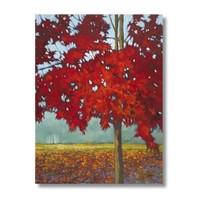 Ritmo-Kızıl Yapraklar Kanvas Tablo
