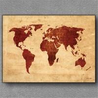 Tablom Dünya Haritası 3 Kanvas Tablo