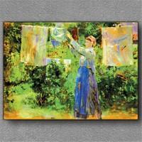 Tablom Çamaşır Asan Kadın Kanvas Tablo