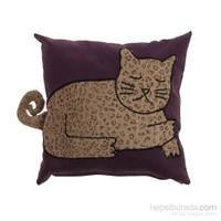 Yastıkminder Koton Kahve Kedi Formunda Yastık