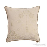 Yastıkminder Koton Dokuma Fıstık Çiçekler Dekoratif Yastık