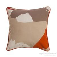 Yastıkminder Koton Kırmızı Oranj Desen Dekoratif Yastık