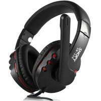 Snopy SN-338 Siyah/kırmızı Mikrofonlu Kulaküstü Kulaklık