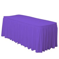 Pandoli Violet Renk Plastik Masa Eteği