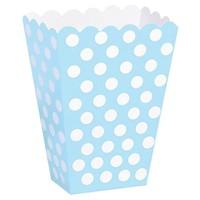 Pandoli 25 Adet Mavi Beyaz Puanlı Pop Corn Kutusu 13 Cm