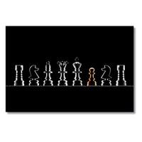 Tictac Satranç Taşları Kanvas Tablo - 40X80 Cm