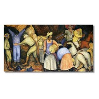 Tictac Meksikalı Köylüler Kanvas Tablo - 50X100 Cm