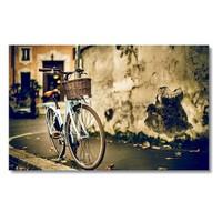 Tictac Mavi Bisiklet Kanvas Tablo - 50X100 Cm