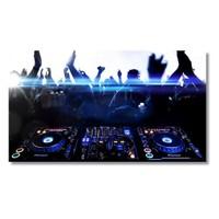 Tictac Dj Set Kanvas Tablo - 40X80 Cm