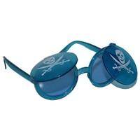 Pandoli Kapaklı Kurukafa Korsan Parti Gözlüğü - Mavi