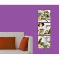 Artred Gallery Kağıt Kızlar Kanvas 50X155 Tablo