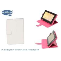 Addison Ip-266 Beyaz 7` Universal Ayarlı Tablet Pc Kılıfı