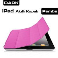 Dark iPad 2/3/4 Pembe Akıllı Kapak-Smart Cover+Ekran Filmi+Silikon Kılıf Hediyeli