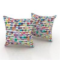 Erenev 9189 Renkli Mozaikler Dekoratif Yastık