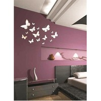 Small Butterfly Çok Parçalı Kelebekler Dekoratif Ayna