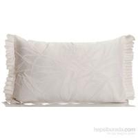 Yastıkminder Koton Polyester Kemik Kabartma Yapraklar Farbelalı Yastık