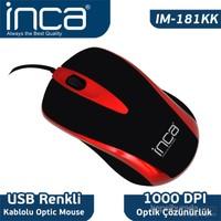 Inca Fascia IM-181KK Seri USB Kablolu Mouse - Kırmızı