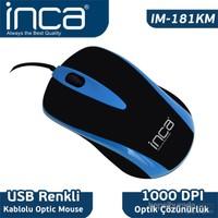 Inca Fascia IM-181KM Seri USB Kablolu Mouse - Mavi