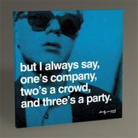 Tablo 360 Andy Warhol Three's A Party 30X30