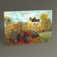 Tablo 360 Claude Monet Garden İn Argenteuil Tablo 45X30