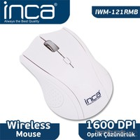 Inca IWM-121RMB Track Red Sensör Beyaz Kablosuz Nano Alıcılı Mouse