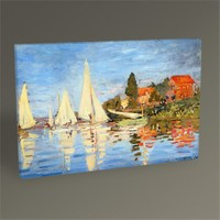 Tablo 360 Claude Monet Argenteuil'de Yelken Yarışları 45X30
