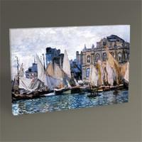 Tablo 360 Claude Monet Le Havre'da Müze Tablo 45X30
