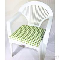 Deran 4Lü Yeşil Kareli Sandalye Minderi 235