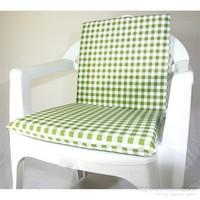 Deran 4Lü Yeşil Kareli Sandalye Minderi 237
