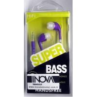 Inova Invss05 Inova Telefon/Tablet/Mp3 Uyumlu 3,5 Inc Kulakıcı Kulaklık Mor Beyaz Renk