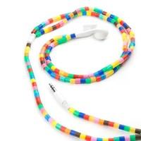 Kikkerland Earbuds Multi Color Tube Beads - Boncuk Taneli Kulakliklar