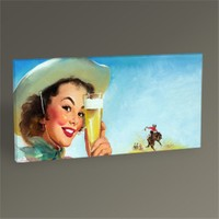 Tablo 360 Gil Elvgren - Texas Special Beer 1953 Tablo 60X30