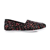 Toms 10007562 Black Textil Floral Wm Kadın Günlük Ayakkabı